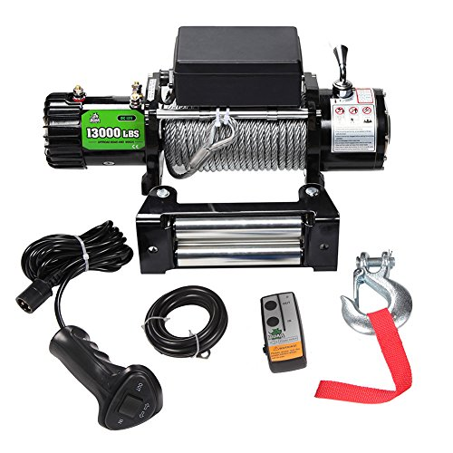 BOAR 12V 13000LBS Wireless Steel Cable Electric Truck Winch Automatic Load-Holding by OFFROAD BOAR