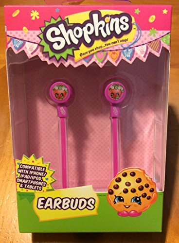 Shopkins Earbuds compatible with iPhone/iPad/iPod , Smarthphones & Tablets (Cheap Costume Ideas Halloween)
