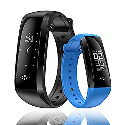 HapFit Fitness Tracker, Smart Band Activity Wristband Bluetooth Bracelet with Heart Rate Sleep Habit Monitor Steps Calorie Mileage Counter Waterproof Pedometer Watch for Android or iOS Phone