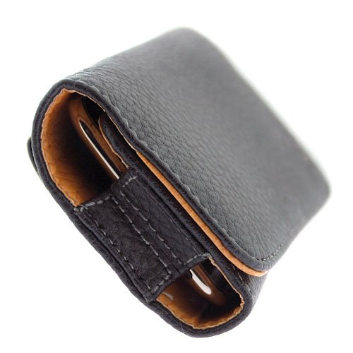 Premium Executive High Quality Leather Pouch Carrying Case cover Holster with Belt Clip for Blackberry Curve 8900 / Blackberry Curve 8300 / 8310 / 8320 / 8330 / 8350i / Blackberry 8800 Series / 8830 / 8820 / Blackberry Bold 9000 / Blackberry Storm 9530 / Blackberry Tour 9630 (Horizontal Leather Pouch Carry Case Black)