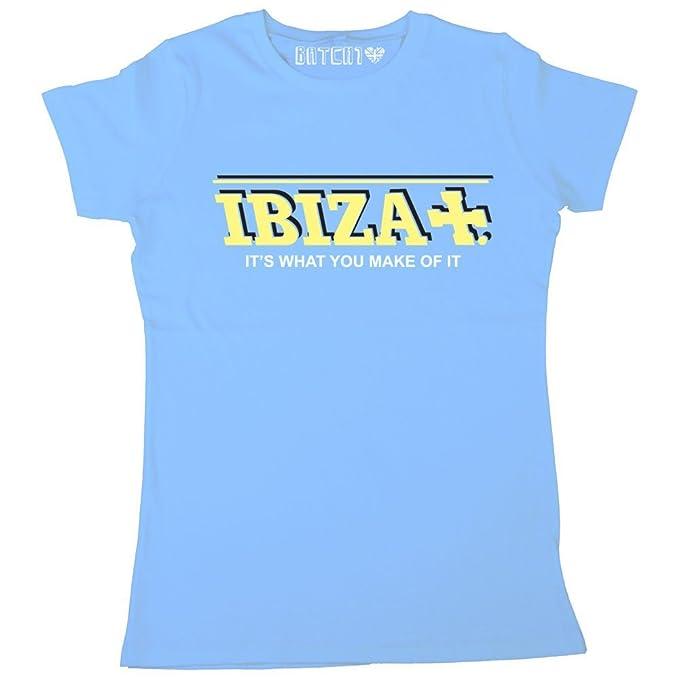 Amazon.com: Batch1 - Camiseta para mujer, diseño de Ibiza ...