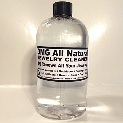 [OMG All Natural Jewelry Cleaner - 16 Ounce Refill Bottle - Safe for All Jewelry] (Costumes Jewelry Supplies)