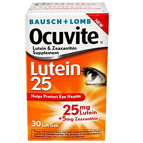 Bausch Lomb Ocuvite Lutein (Bausch & Lomb Ocuvite Lutein 25 lutein & zeaxanthin supplements ‑30 softgels ( Pack of 2 ))