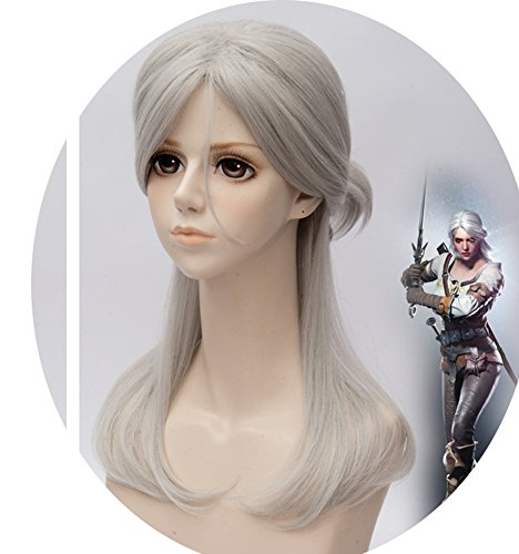 [Cosplay Ciri Wig The Witcher 3 Wild Hunt Inspired Costume Wigs Halloween Party] (Witcher 3 Ciri Costume)