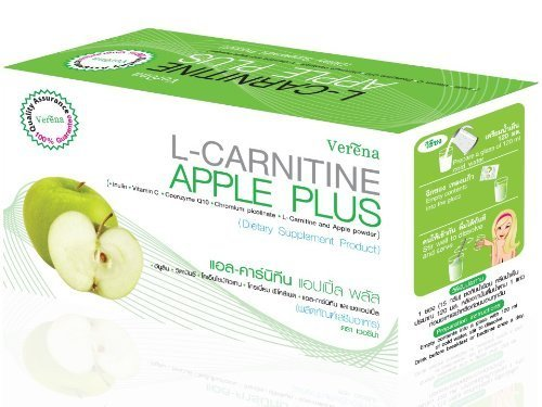 Verena L-carnitine Apple Plus Drink Dietary Supplement. Box of 10 Sachets (15g X 10)