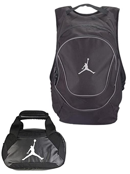 Nike Air Jordan Jumpman Backpack   Insulated Trainer Lunch Tote Bag Set +  Free Cell Phone c07d2a6d0