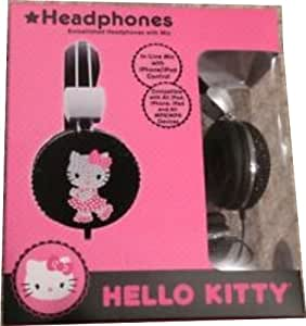 Hello kitty bejeweled headphones with mic for Bureau hello kitty