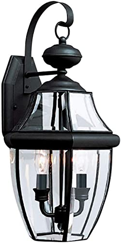 Sea Gull Lighting 8039EN-12 Lancaster Traditional Two-Light Outdoor Wall Lantern Outside Fixture