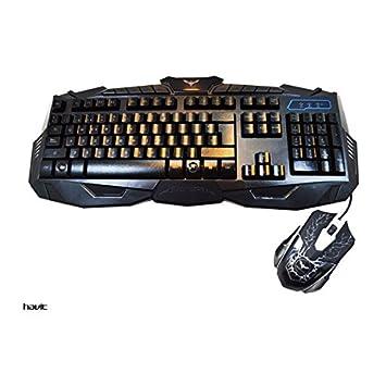 HAVIT HV-KB550CM - Combo Teclado gaming retroiluminado con raton Con Cable Lighting LED: Amazon.es: Electrónica