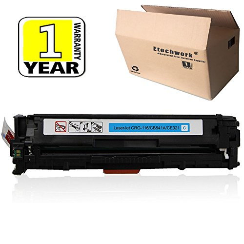Etechwork Compatible 125A CB541A Toner Cartridge 1 Pack Cyan Replacement for Color Laserjet CM1312NFI CM1312 MFP CP1215 CP1518NI CP1515N ()