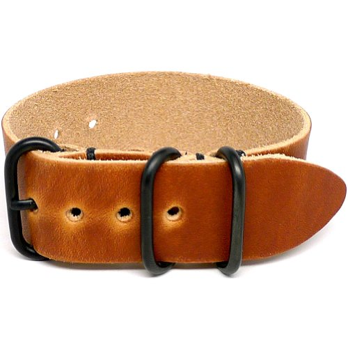 DaLuca 1 Piece NATO Watch Strap - Natural Dublin (PVD Buckle) : 24mm by DaLuca