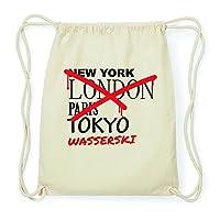 JOllify WASSERSKI Hipster Turnbeutel Tasche Rucksack aus Baumwolle - Farbe:...