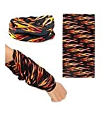 Liroyal Assorted Seamless Outdoor Sport Bandanna Headwrap Scarf Wrap The magic scarf Multi-function scarf Winter outdoor mask and equipment(7 Sets Options)