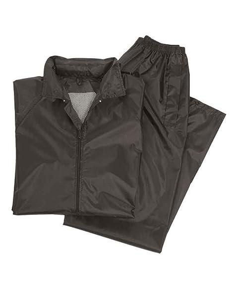 Amazon.com: Mil-Tec impermeable Traje Negro: Clothing