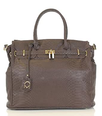 Noble Mount London Office Tote - Snake Coffee