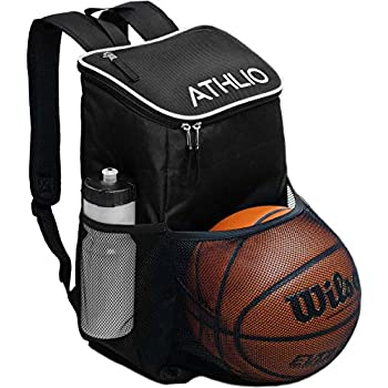 ATHLIO Fitness center Bag Backpack – Ball Tools Pocket Sports activities Exercise Journey Gear XL