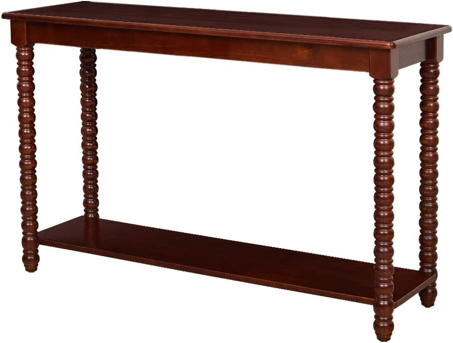 Amazon Brand – Ravenna Home Traditional Solid Pine End Table, 15.75