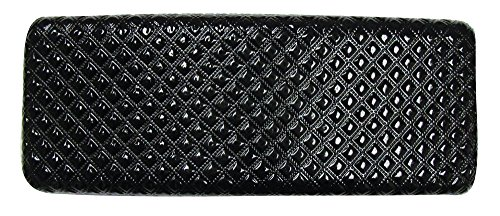 Glasses Case For Men & Women, Medium Hard Shell Eyeglass Case, Diamond Quilted Finish In Black