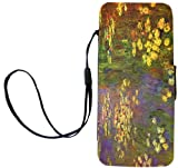 Rikki Knight Claude Monet Art Nympheas Water Plantes Flip Wallet iPhoneCase with Magnetic Flap for iPhone 5/5s - Nympheas Water Plantes