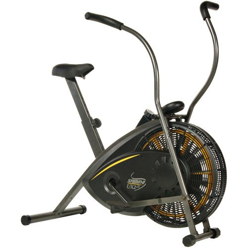 Stamina Air Resistance Exercise Bike, Displays time, Foam hand grips, Non-slip