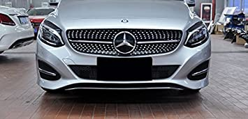 FidgetGear For For Mercedes BENZ W204 C63 Style GRILLE GRILL 2008-2013 C-CLASS AMG BLACK
