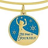 "Disney Parks Alex and Ani Frozen Queen Elsa Enamel ""Be True to Yourself"""