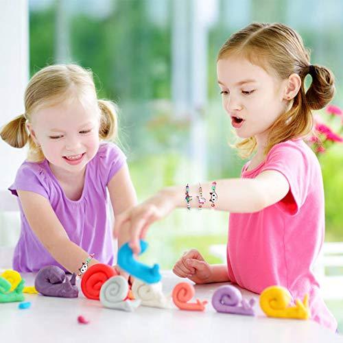 LovesTown 14 Pcs Children Bracelets, Adjustable Kids Friendship Bracelets Jewelry Animal Pendant Woven Bracelets for Prize Pretend Play Party Favors for Girls Kids