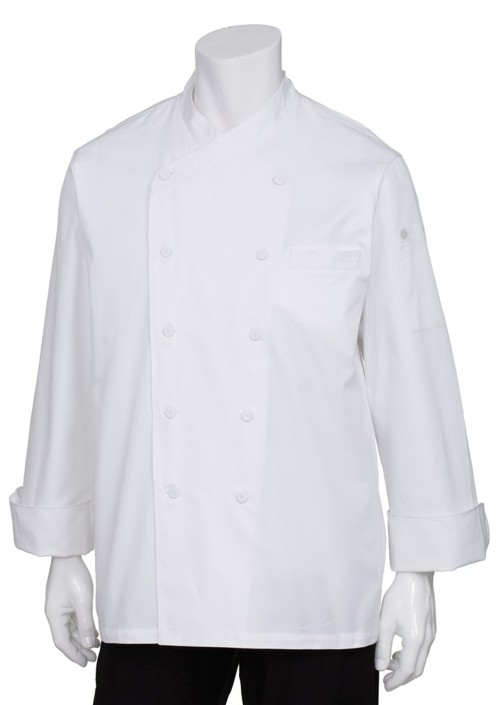 Chef Works Men's Oslo Executive Chef Coat, White, 56 by Chef Works