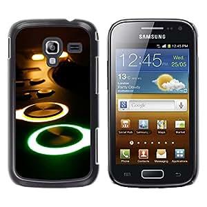 TopCaseStore / la caja del caucho duro de la cubierta de protección de la piel - Glowing Buttons Console - Samsung Galaxy Ace 2 I8160 Ace II X S7560M