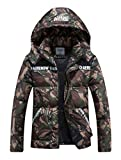 Chartou Men's Winter Hooded Camouflage Quilted Puffer Coat Padded Jacket Parkas Outwear
