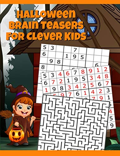 Clever Halloween Words (Halloween Brain Teasers For Clever Kids: Halloween Cryptogram, Word Search & Scramble, Hangman, Tic Tac Toe, Maze Puzzles, Mind & Logic Games With ... School, Home, Homeschooling) - Spooky)