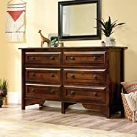 Sauder Viabella 6 Drawer Dresser in Curado Cherry