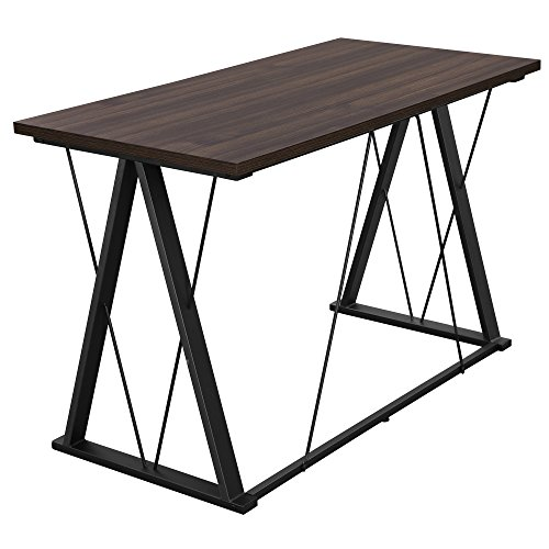 Cheap SONGMICS Modern Computer Desk Office Desk with Thickened Tabletop and Sturdy Metal Frame, Easy Assembly,Tools and Instructions Included, ULWD13S