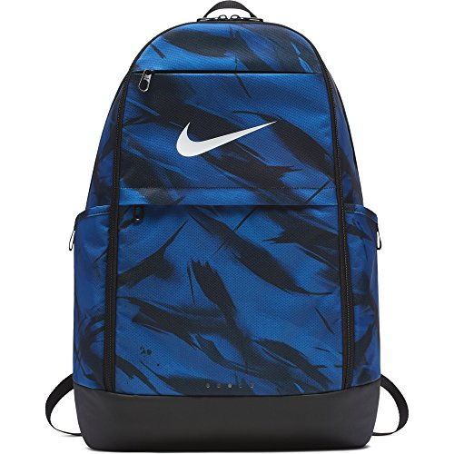 Nike College Bags (NIKE Brasilia All Over Print Backpack, Gym Blue/Black/White, X-Large)