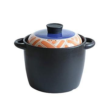 YI HOME- Manual De Cocina De Cazuela Cerámica Hogar De Estilo Japonés Multifunción Sopa De Gas Creativa Cocina De Piedra Olla Antiadherente Utensilios De ...