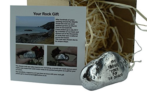 My Shining Rock For 10 Years - Solid Heavy Metal Tenth Anniversary Gift Idea (Anniversary Tin Gift)