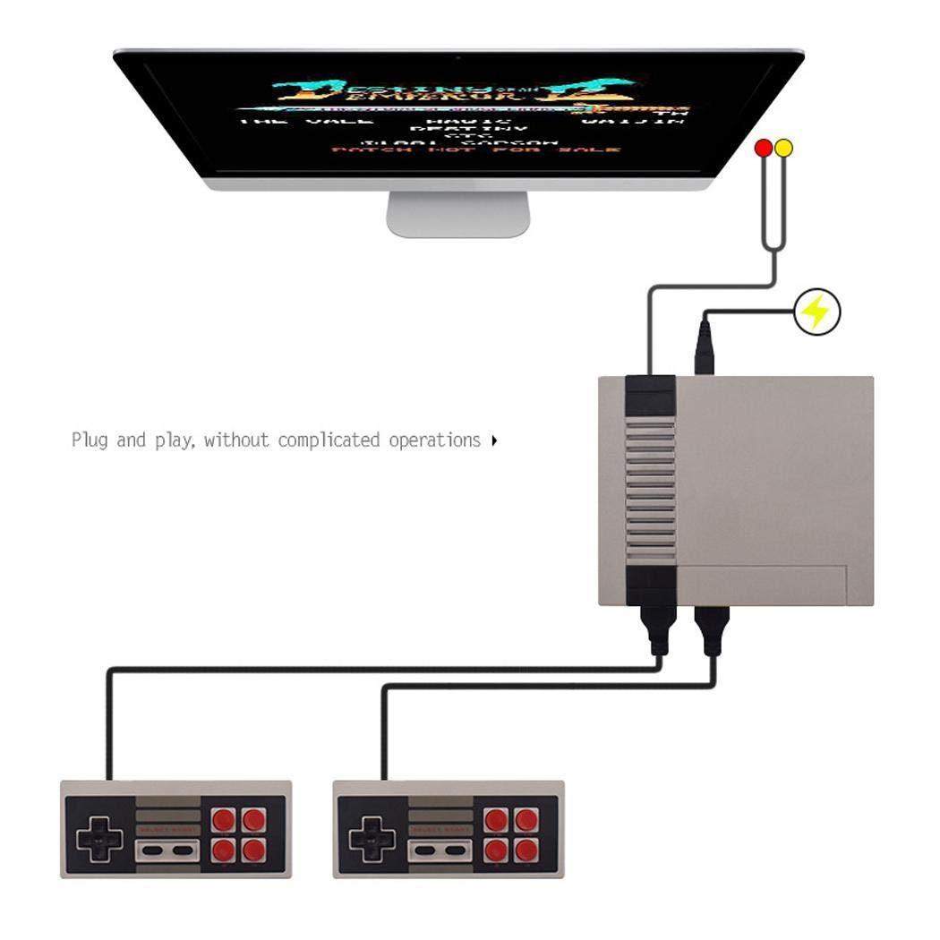 Lieja Built in 620 Giochi AV out Videogiochi HDMI Console Console Portatili Retro con Doppio Controller per Bambini