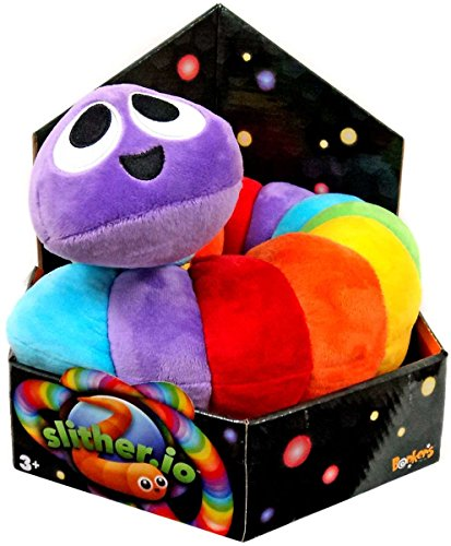 Slither Io Jumbo 24  Bendable Plush Toy In Box   Rainbow Color