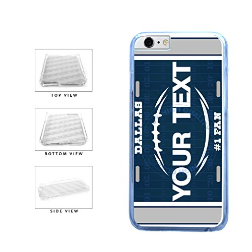 BleuReign(TM) Personalized Custom Name Football Dallas License Plate Clear Sides Plastic Phone Case Back Cover For Apple iPhone 6 Plus and iPhone 6s Plus (5.5 Inches Screen) ()