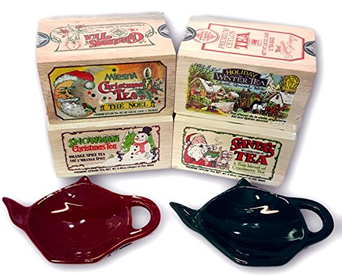 Cider Gift (Metropolitan Tea Wooden Box Holiday 4 Variety Tea Gift Set)