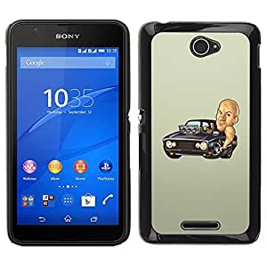 Design for Girls Plastic Cover Case FOR Sony Xperia E4 Diesel Car Black Mustang Powerfult Hot OBBA