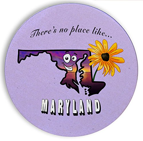 [Ceramic Stone Coaster Coasters Set of Four - There's No Place Like Maryland] (Wizard Of Oz Witch Socks)
