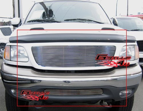APS Compatible with 99-03 F-150 4WD 99-02 Expedition Billet Grille Combo F87684A ()