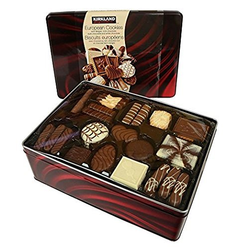 Kirkland Signature European Cookies with Belgian Chocolate, 49.4 Ounce (Cookie Gifts For Christmas)