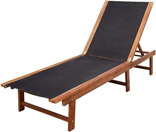 Xinglieu Tumbona para Tomar EL Sol de Madera de Acacia Camas para Tomar EL Sol Camas MAR: Amazon.es: Jardín