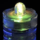 KCRIUS(TM) Pack of 12 -Multicolor - Submersible Waterproof Underwater Tea Light Sub Lights Battery Operated LED TeaLight