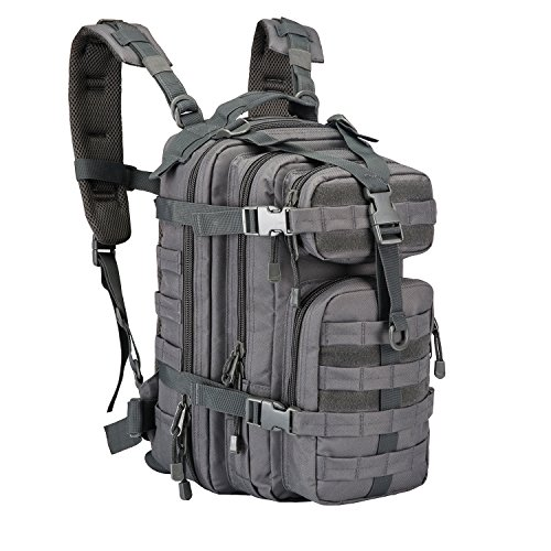 PANS Small Military Assault backpack Outdoor Tactical Backpack hydration backpack camel pack Law Enforcement Waterproof for Camping Hiking Trekking and Sports (Gray) (Enforcement Bags Law)