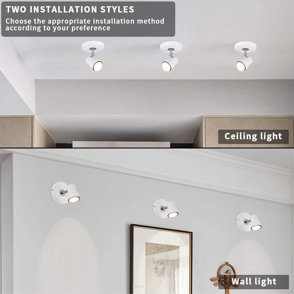 Wall Lights Picture Closet Artwork Ceiling Spotlight Indoor Wall Light Office And Kitchen Betling Black Wall Spotlight Rotatable Lamp With Adjustable Head Mini Accent Lighting For Living Room Tools Home Improvement