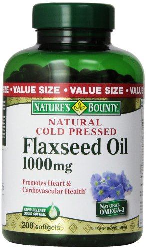 Natures Bounty Flaxseed 1000mg Softgels