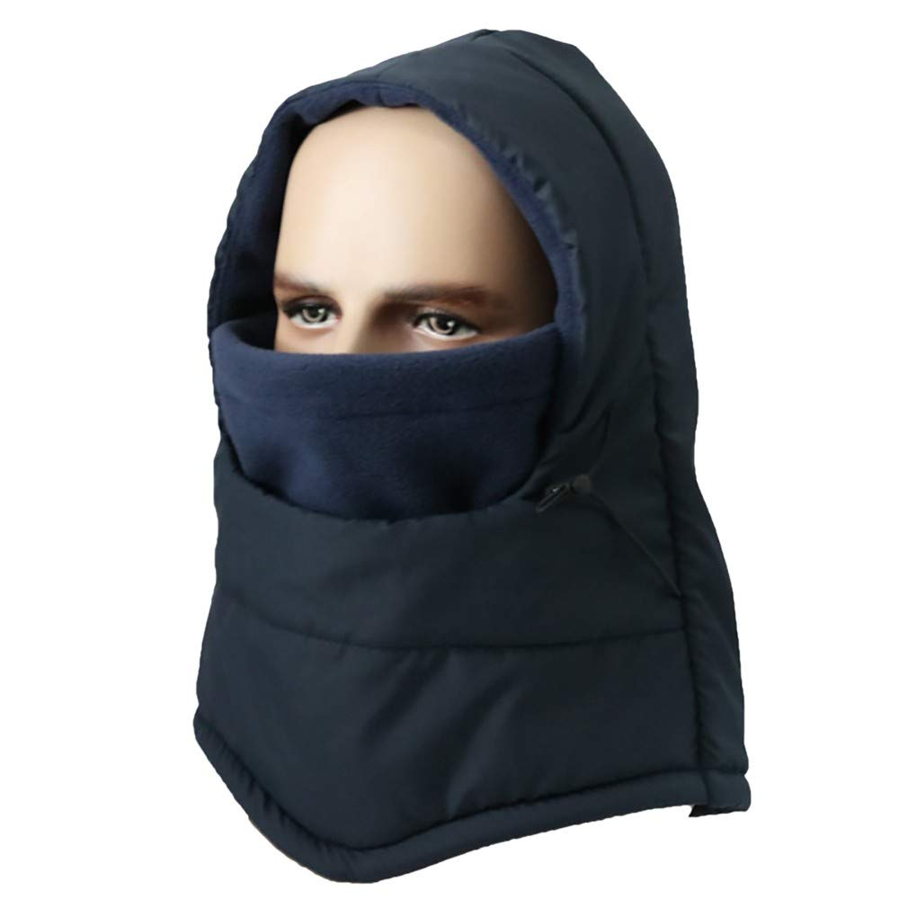 Hmlai Multi-Function Mask Balaclava Windproof Ski Mask Cold Weather Face Cover (Style 2-Navy)